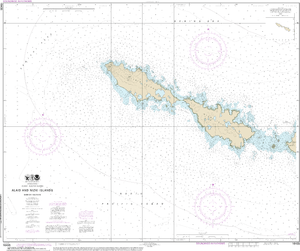 NOAA Nautical Chart 16435: Semichi Islands Alaid and Nizki Islands