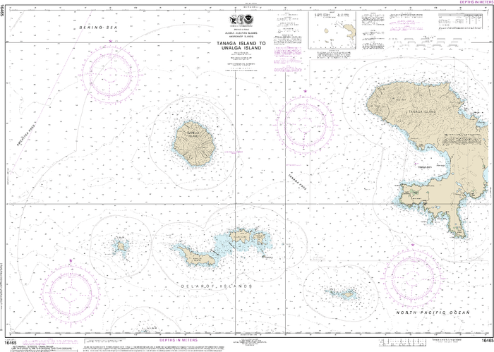 NOAA Nautical Chart 16465: Tanaga Island to Unalga Island