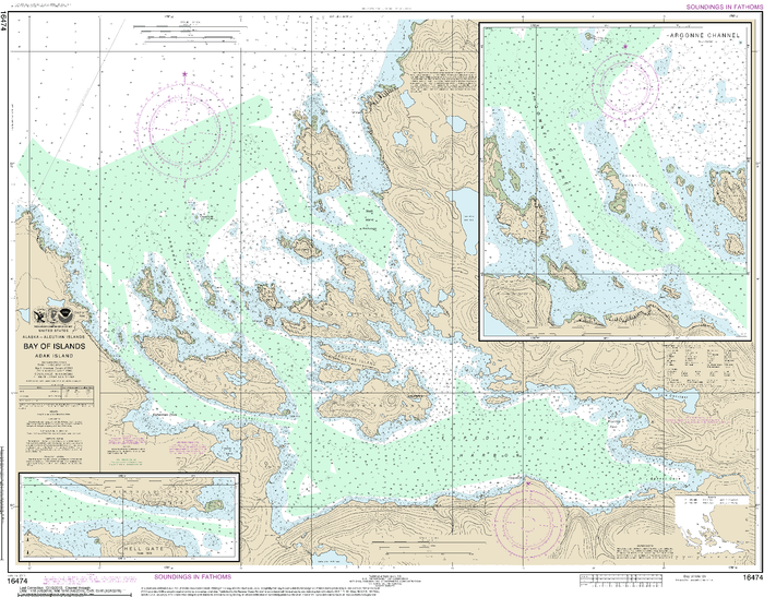 NOAA Nautical Chart 16474: Bay of Islands;Aranne Channel;Hell Gate