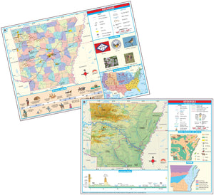 Kappa Map Group  arkansas state primary thematic deskpad map multi pack