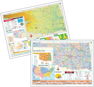 Kappa Map Group  oklahoma state intermediate thematic deskpad map multi pack