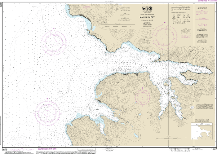 NOAA Nautical Chart 16517: Makushin Bay
