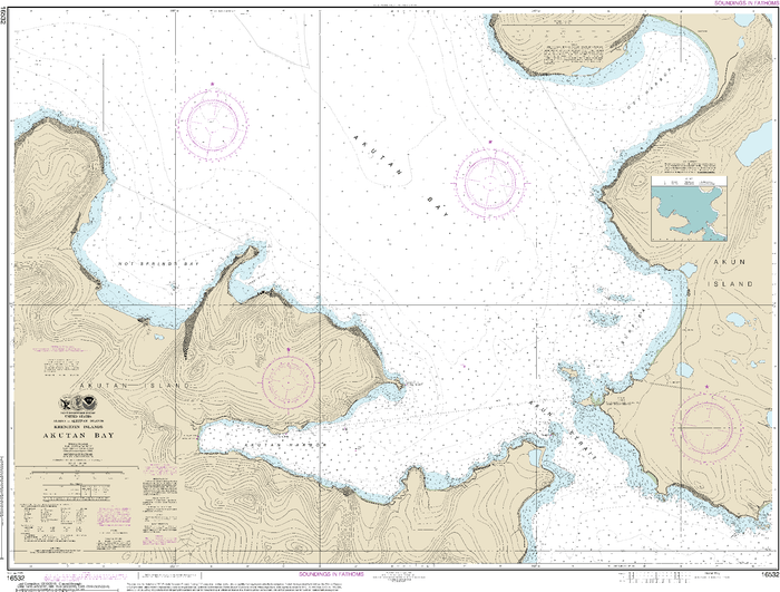 NOAA Nautical Chart 16532: Akutan Bay, Krenitzin Islands