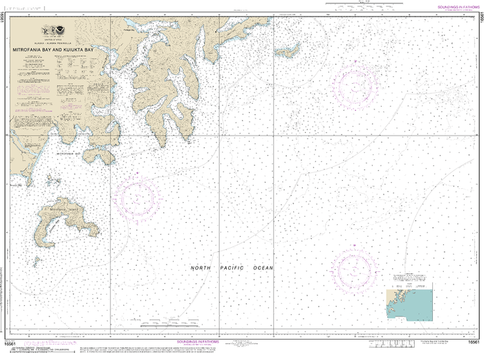 NOAA Nautical Chart 16561: Mitrofania Bay And Kuiukta Bay