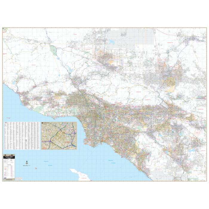La Orange Ventura Co Regional, CA Wall Map