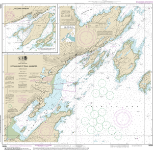NOAA Nautical Chart 16595: Kodiak and St. Paul harbors;Kodiak Harbor