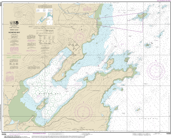 NOAA Nautical Chart 16596: Womens Bay