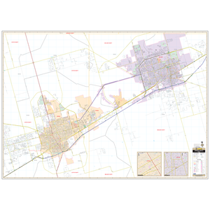 Midland Odessa, Tx Wall Map - Large Laminated
