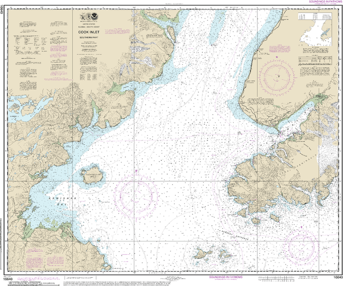 NOAA Nautical Chart 16640: Cook Inlet-southern part
