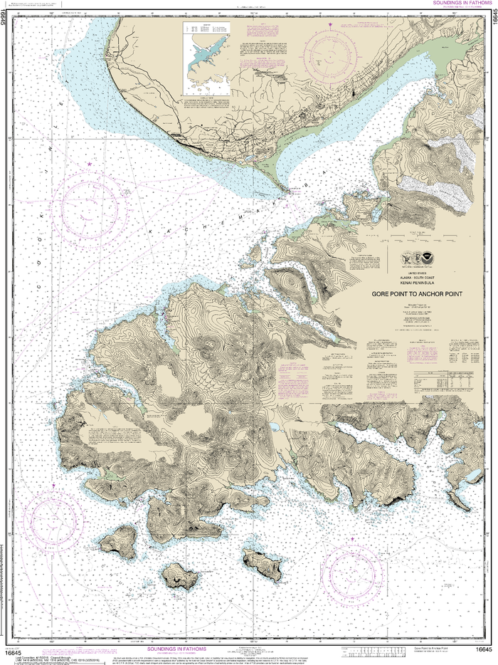 NOAA Nautical Chart 16645: Gore Point to Anchor Point