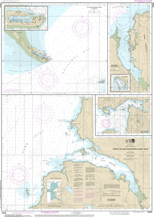 NOAA Nautical Chart 16646: Ports of Southeastern Cook Inlet Port Chatham;Port Graham;Seldovia Bay;Seldovia Harbor;Approaches to Homer Hbr;Homer Harbor