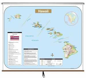 Kappa Map Group  Hawaii Large Scale Shaded Relief Wall Map