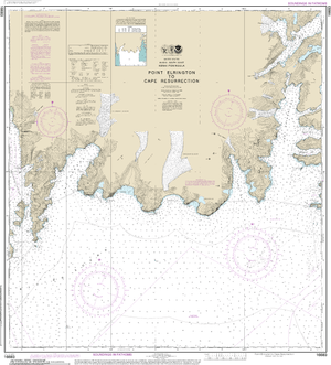 NOAA Nautical Chart 16683: Point Elrington to Cape Resurrection