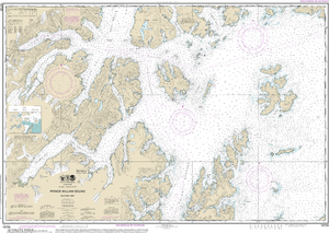 NOAA Nautical Chart 16705: Prince William Sound-western part