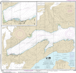NOAA Nautical Chart 16706: Passage Canal incl. Port of Whittier;Port of Whittier