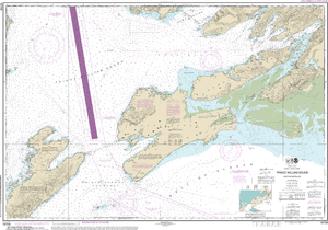NOAA Nautical Chart 16709: Prince William Sound-eastern entrance