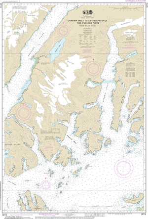 NOAA Nautical Chart 16712: Unakwik Inlet to Esther Passage and College Fiord