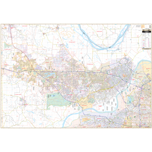 St Charles, Mo Wall Map - Large Laminated