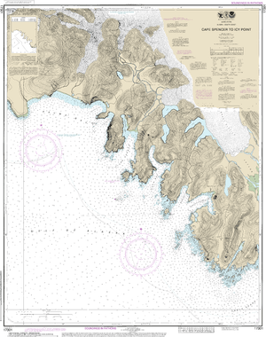 NOAA Nautical Chart 17301: Cape Spencer to Icy Point