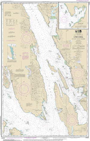 NOAA Nautical Chart 17316: Lynn Canal-Icy Str. to Point Sherman;Funter Bay;Chatham Strait
