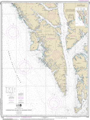 NOAA Nautical Chart 17320: Coronation Island to Lisianski Strait