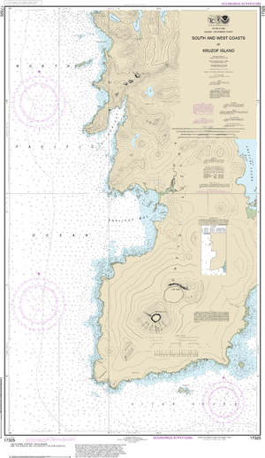 NOAA Nautical Chart 17325: South and West Coasts of Kruzof Island