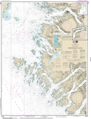 NOAA Nautical Chart 17326: Crawfish Inlet to Sitka, Baranof I.;Sawmill Cove