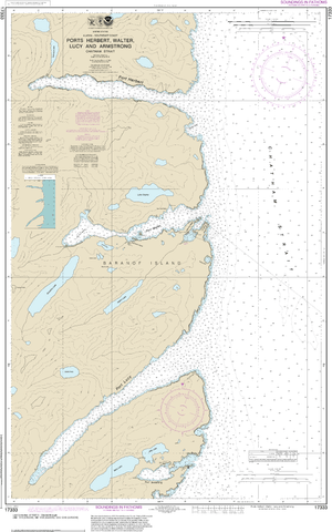 NOAA Nautical Chart 17333: Ports Herbert, Walter, Lucy and Armstrong