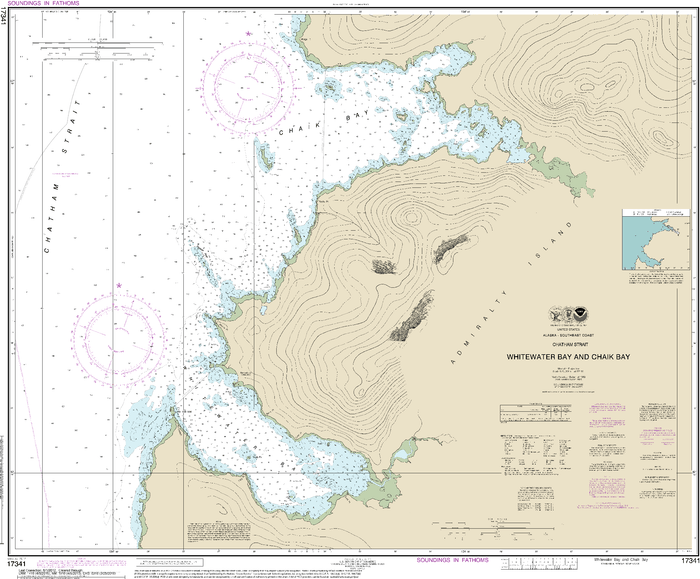NOAA Nautical Chart 17341: Whitewater Bay and Chaik Bay, Chatham Strait
