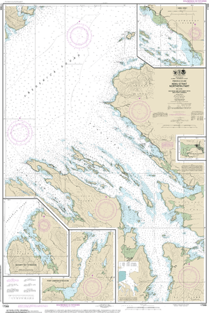 NOAA Nautical Chart 17368: Keku Strait-northern part, including Saginaw and Security Bays and Port Camden;Kake Inset