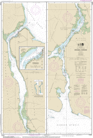 NOAA Nautical Chart 17375: Wrangell Narrows;Petersburg Harbor