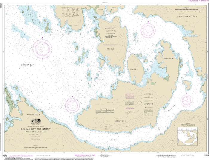 NOAA Nautical Chart 17379: Shakan Bay And Strait, Alaska