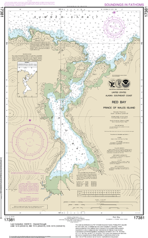 NOAA Nautical Chart 17381: Red Bay, Prince of Wales Island