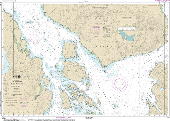 NOAA Nautical Chart 17383: Snow Passage, Alaska
