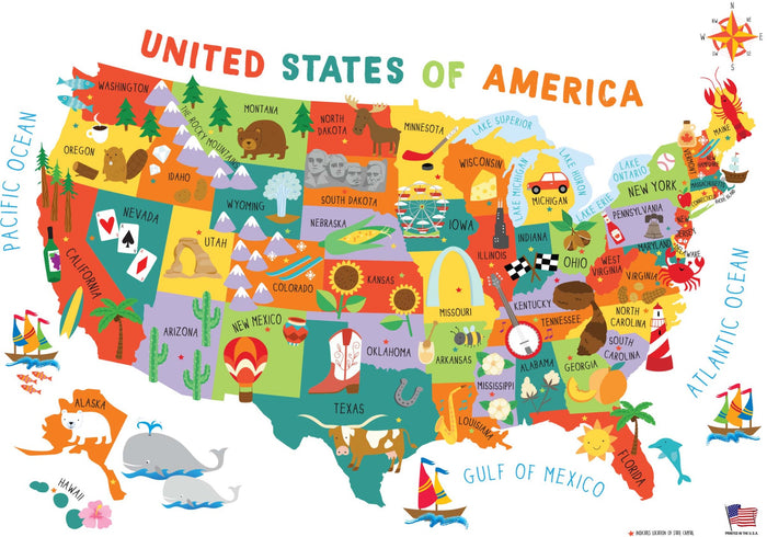 US Illustrated Map