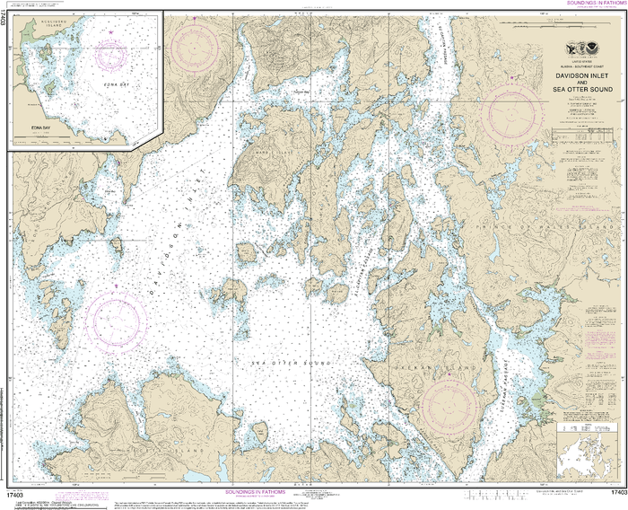 NOAA Nautical Chart 17403: Davidson Inlet and Sea Otter Sound;Edna Bay