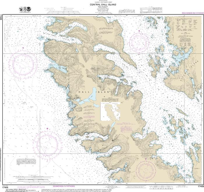 NOAA Nautical Chart 17408: Central Dall Island and vicinity