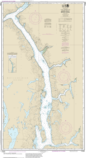 NOAA Nautical Chart 17424: Behm Canal-eastern part