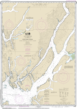 NOAA Nautical Chart 17427: Portland Canal - Dixon Entrance to Hattie I.