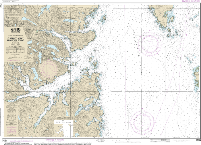 NOAA Nautical Chart 17432: Clarence Strait and Moira Sound