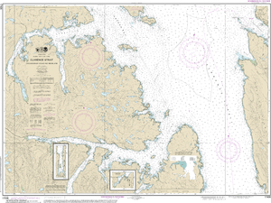 NOAA Nautical Chart 17436: Clarence Strait, Cholmondeley Sound and Skowl Arm