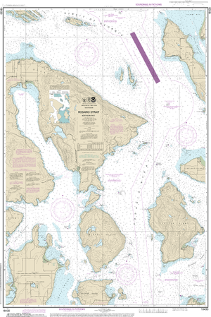 NOAA Nautical Chart 18430: Rosario Strait-northern part