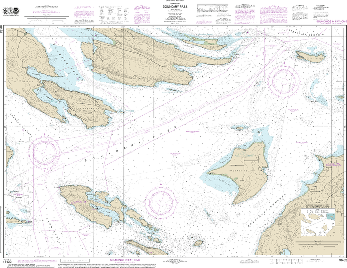 NOAA Nautical Chart 18432: Boundary Pass