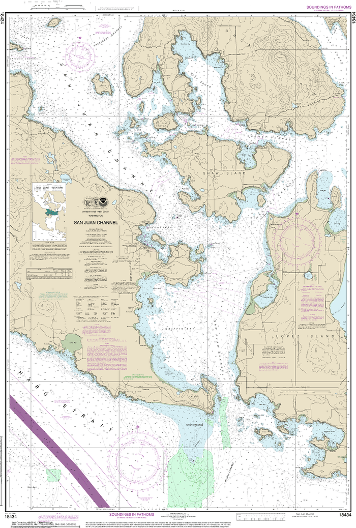 NOAA Nautical Chart 18434: San Juan Channel