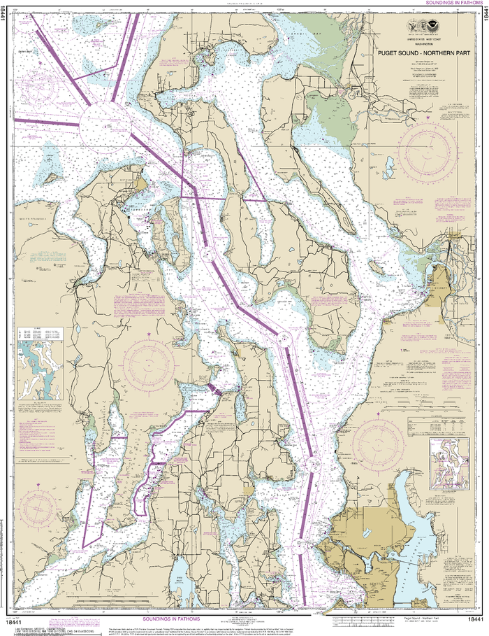 NOAA Nautical Chart 18441: Puget Sound-northern part