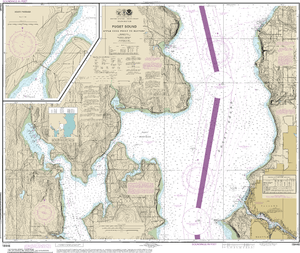 NOAA Nautical Chart 18446: Puget Sound-Apple Cove Point to Keyport;Agate Passage