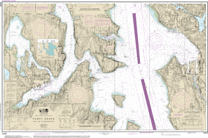NOAA Nautical Chart 18449: Puget Sound-Seattle to Bremerton