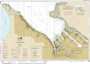 NOAA Nautical Chart 18453: Tacoma Harbor