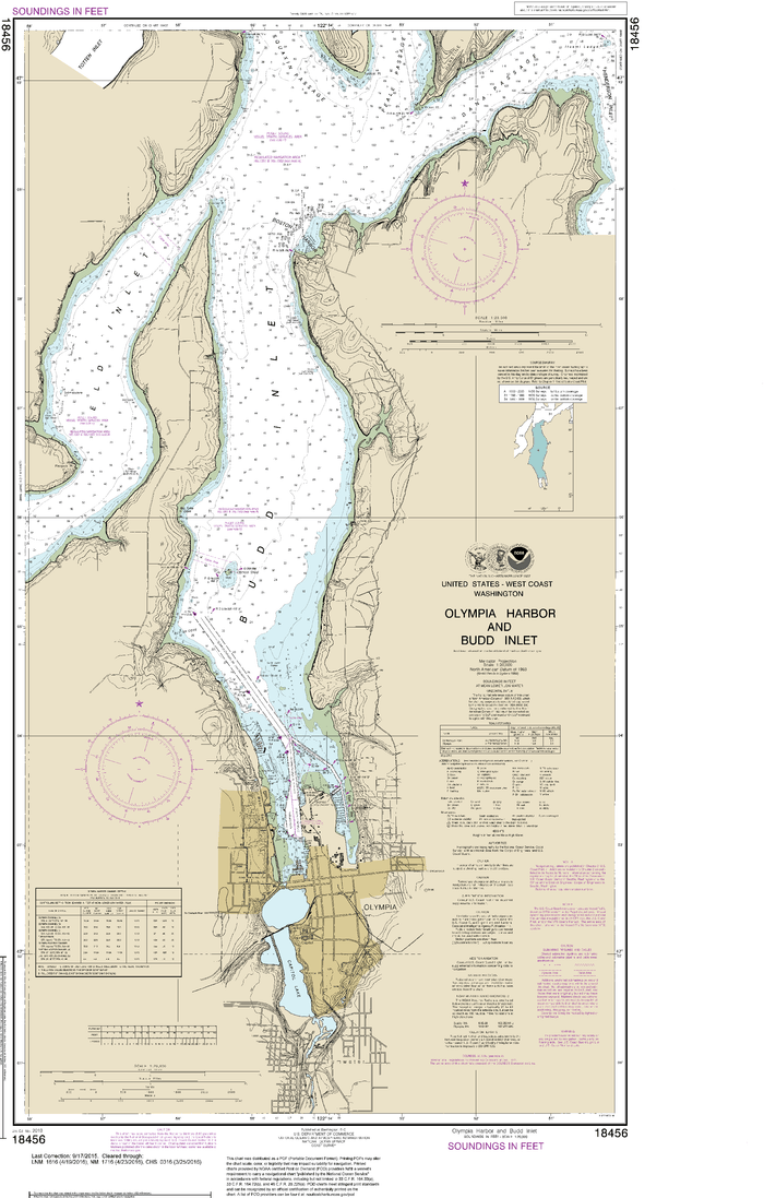 NOAA Nautical Chart 18456: Olympia Harbor and Budd Inlet