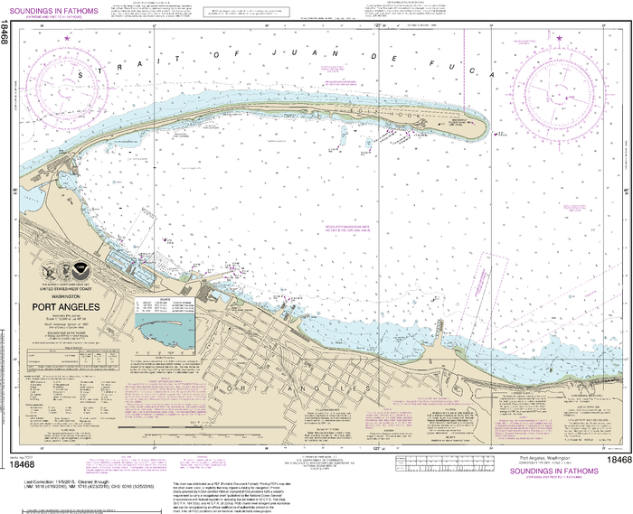 NOAA Nautical Chart 18468: Port Angeles